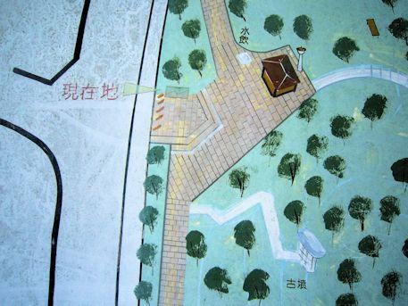 牧野史跡公園の地図