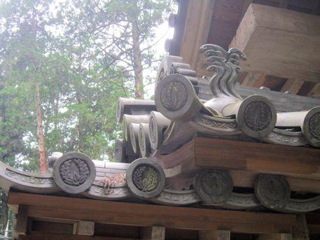 談山神社東大門の瓦屋根