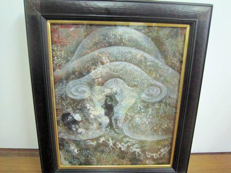 絵画『亀甲墓のYONI』の原画