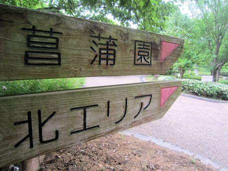 菖蒲園の道案内