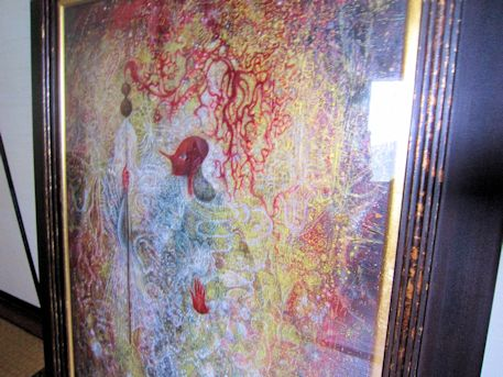 堀内亜紀の絵画『猿田彦』
