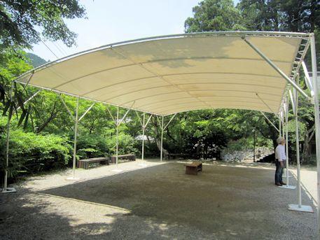 談山神社のテント