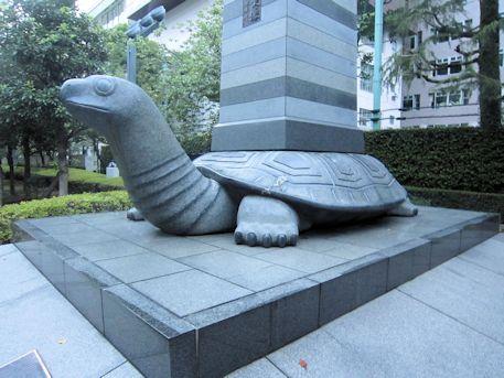 徳川家康公銅像の贔屓。