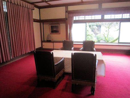 橿原神宮貴賓館の応接室