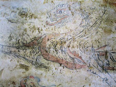 オラーン・ヘレム墓の白虎図