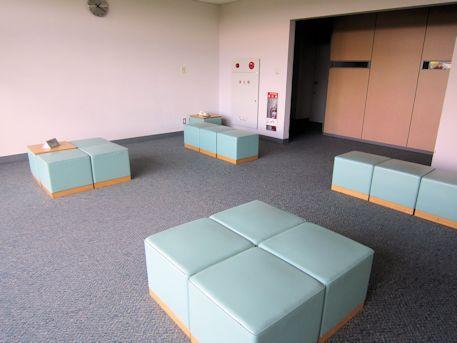 天理参考館の3階休憩コーナー