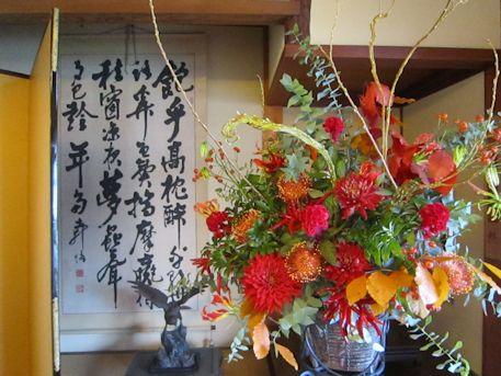 結婚披露宴の会場装花