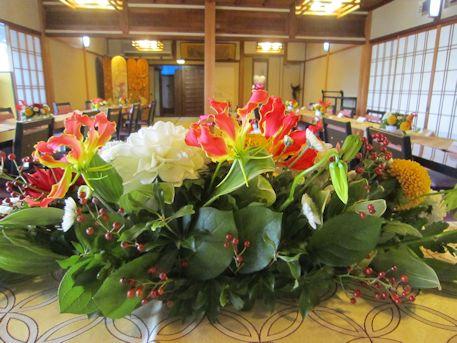 高砂卓上装花