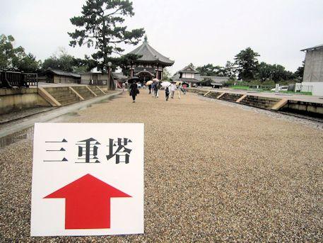 興福寺三重塔の道案内