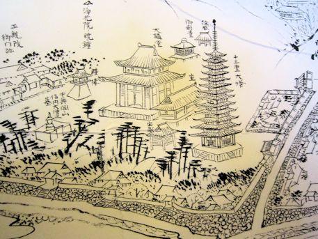 正暦寺の境内古地図