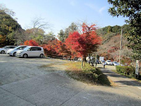 正暦寺の駐車場