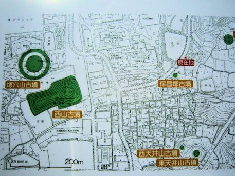 保昌塚古墳の周辺地図