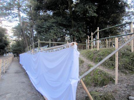 松の下式の桟敷席
