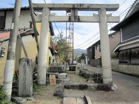 穴師坐兵主神社の鳥居