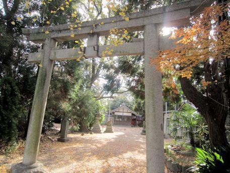 鏡作伊多神社鳥居