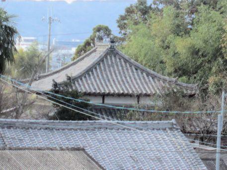 法楽寺地蔵堂の屋根瓦