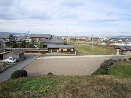 黒田大塚古墳墳丘上からの眺望