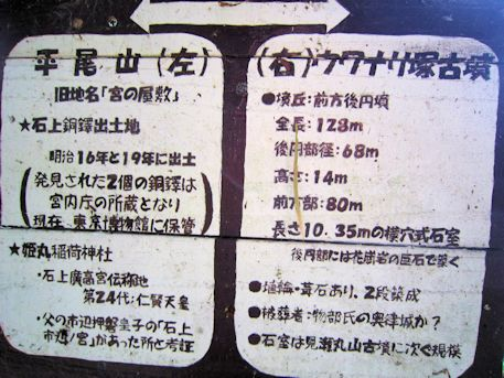ウワナリ塚古墳と平尾山