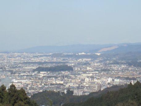 箸墓古墳の遠景
