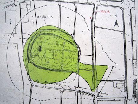 前方後円墳の纒向石塚古墳