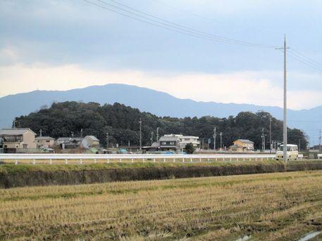 箸墓古墳全景