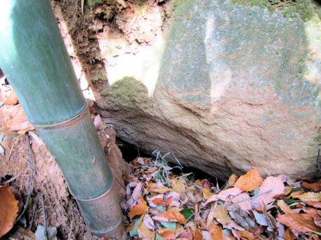 立子塚古墳の横穴式石室開口部