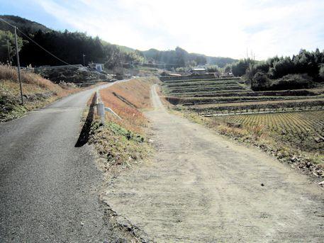 長瀬藪1号墳のアクセス道