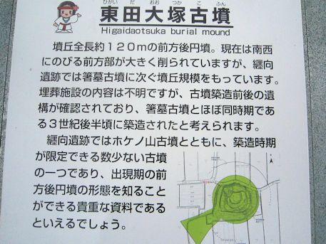東田大塚古墳の案内板