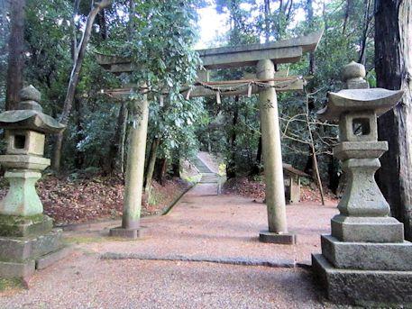東大谷日女命神社の鳥居