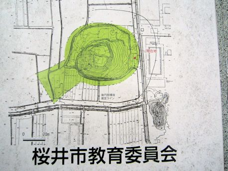 矢塚古墳の墳丘図