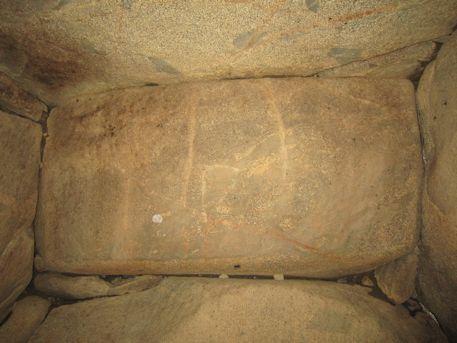 横穴式石室の奥壁