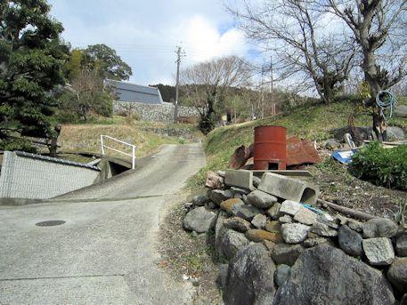 打上古墳のアクセス道