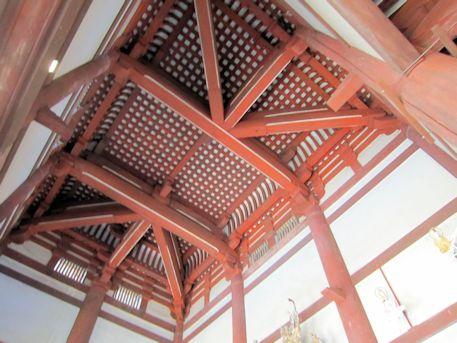 喜光寺本堂の天井