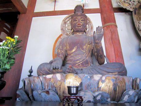 喜光寺本堂の勢至菩薩