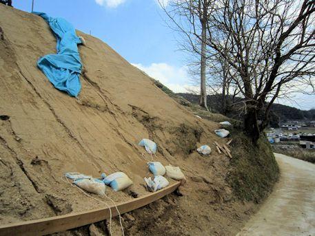 カンジョ古墳の墳丘整備