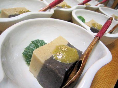 白黒胡麻豆腐ふきのとう味噌仕立