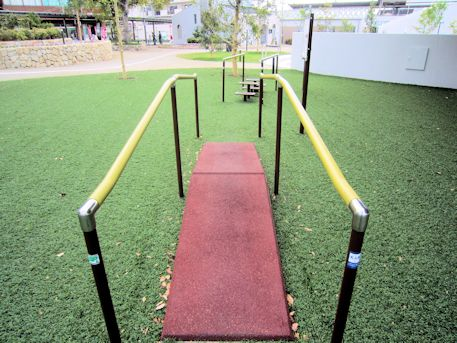 健康遊具のスロープ
