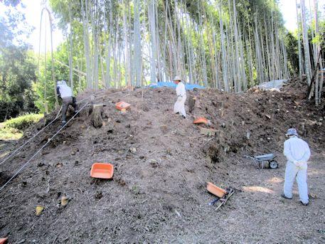 古墳発掘現場