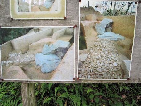 越塚御門古墳の発掘写真