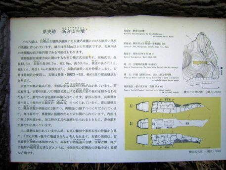 新宮山古墳の案内板