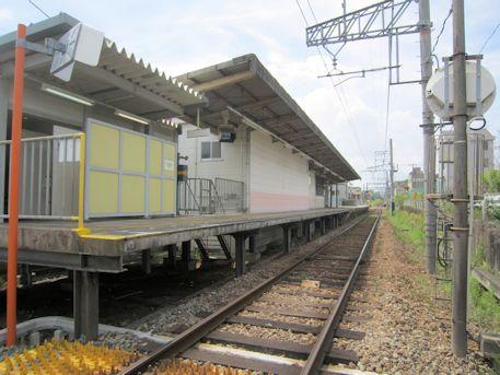 竜田川駅のプラットフォーム