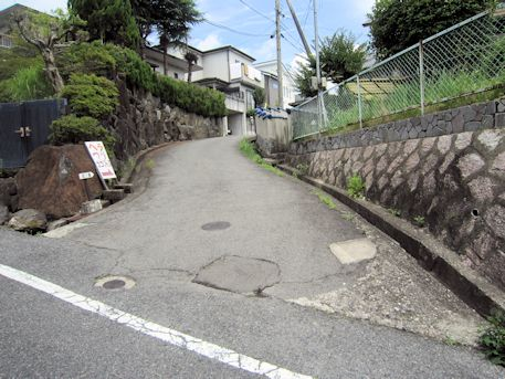 烏土塚古墳のアクセス道