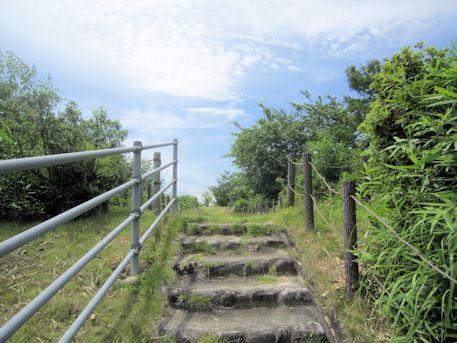 烏土塚古墳の石段