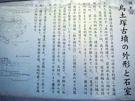 烏土塚古墳の外形と石室