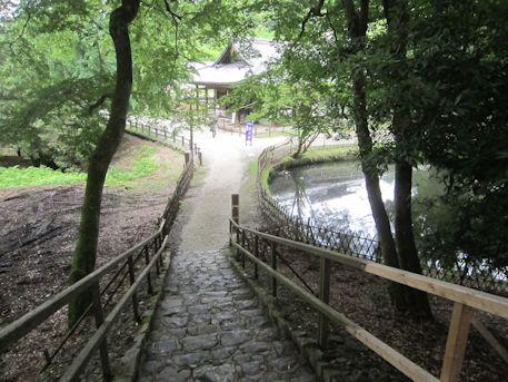 大湯屋の石段