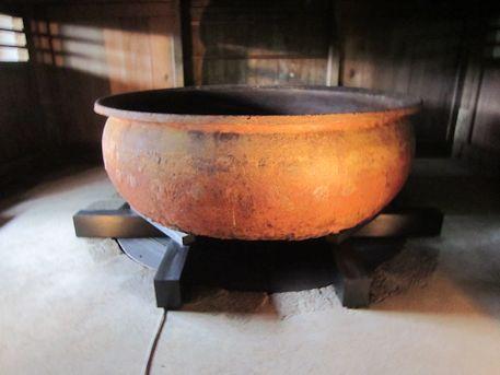 東大寺大湯屋の鉄湯船