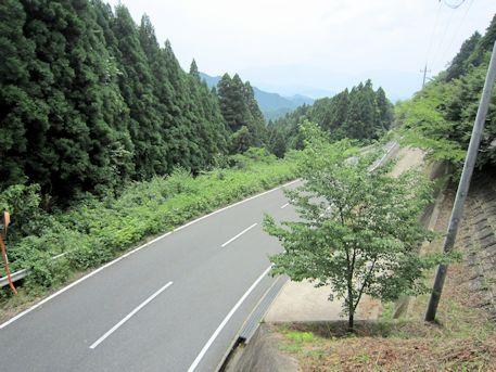 石舞台古墳への車道