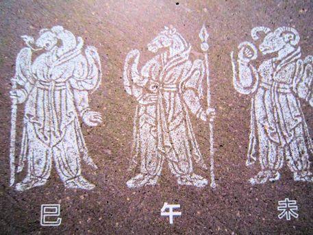 キトラ古墳の獣頭人身十二支像