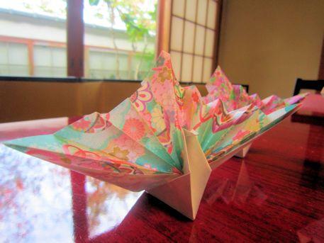 鶴のカードスタンド