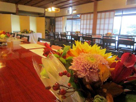 ゲストテーブル卓上装花